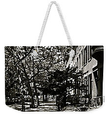 Weekender Tote Bag featuring the photograph New York Sidewalk by Eric Tressler