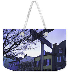 Weekender Tote Bag featuring the photograph Night In Savannah by Andrea Anderegg