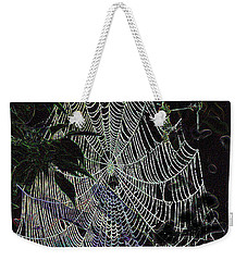 Weekender Tote Bag featuring the photograph Night Lines by EricaMaxine  Price