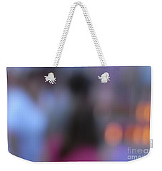 Weekender Tote Bag featuring the photograph Imagine Nightfall At The Funfair by Andy Prendy