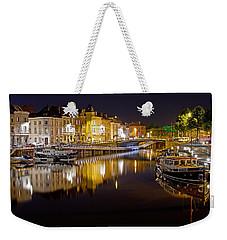 Nighttime Along The River Leie Weekender Tote Bag
