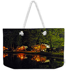 Nighttime In The Campground Weekender Tote Bag by Kay Lovingood