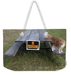 No Trespassing Weekender Tote Bag by Jeannette Hunt
