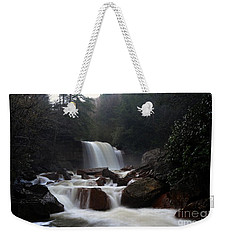 Weekender Tote Bag featuring the photograph North Forks Waterfalls by Dan Friend