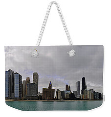 Weekender Tote Bag featuring the photograph North Of Navy Pier From The Series Chicago Skyline by Verana Stark