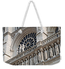 Weekender Tote Bag featuring the photograph Notre Dame Details by Jennifer Ancker