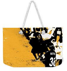 Number 1 Bettis Fan - Black And Gold Weekender Tote Bag