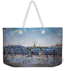 Nyc Grand Ferry Park 2 Weekender Tote Bag by Ylli Haruni