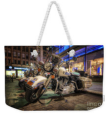 Nypd Bikes Weekender Tote Bag by Yhun Suarez