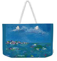 Weekender Tote Bag featuring the painting Ocean Delight by Judith Rhue