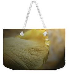 Weekender Tote Bag featuring the photograph Oh So Soft Is The Kiss Of Dew by Debbie Portwood