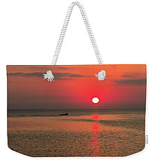 Okinawa Sunset Weekender Tote Bag by Jocelyn Kahawai