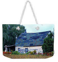 Weekender Tote Bag featuring the photograph Old Barn by Davandra Cribbie