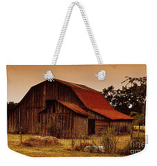 Weekender Tote Bag featuring the photograph Old Barn by Lydia Holly