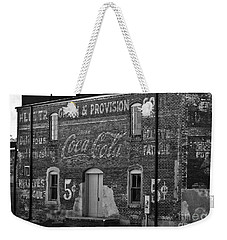 Old Building In Salisbury Nc Weekender Tote Bag by Wilma  Birdwell