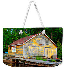 Weekender Tote Bag featuring the photograph Old Cabin by Les Palenik