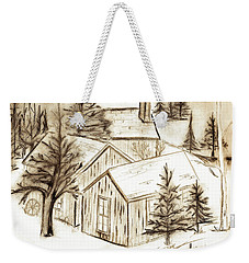 Weekender Tote Bag featuring the drawing Old Colorado by Shannon Harrington