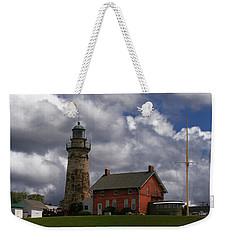 Old Fairport Harbor Light Weekender Tote Bag