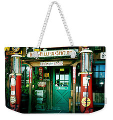 Old Fashioned Filling Station Weekender Tote Bag by Nina Prommer