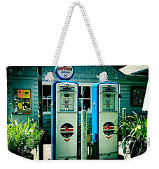 Old Fashioned Gas Station Weekender Tote Bag