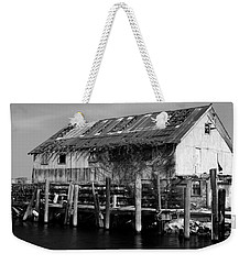 Weekender Tote Bag featuring the photograph Old Fishing Wharf by Karen Harrison