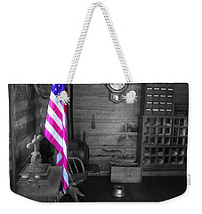 Weekender Tote Bag featuring the photograph Old Glory by Deniece Platt