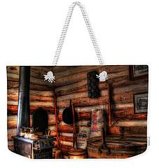 Old Log Cabin Weekender Tote Bag