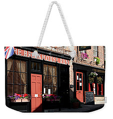 Weekender Tote Bag featuring the photograph Old Towne Dining by Karen Harrison