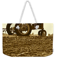 Old Tractor I In Sepia Weekender Tote Bag