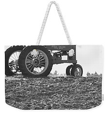 Old Tractor II In Black-and-white Weekender Tote Bag