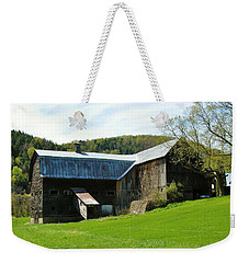Weekender Tote Bag featuring the photograph Old Vermont Barn by Sherman Perry