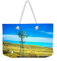 Weekender Tote Bag featuring the photograph Old Windmill by Shannon Harrington