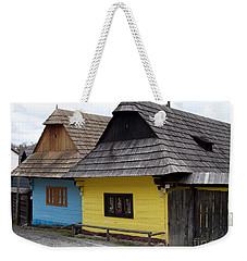 Weekender Tote Bag featuring the photograph Old Wooden Homes by Les Palenik