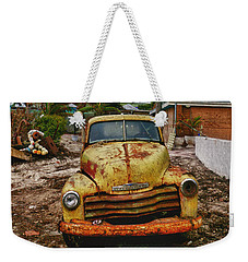 Old Yellow Truck Florida Weekender Tote Bag by Garry Gay