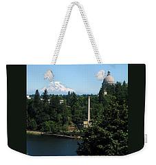 Olympia Wa Capitol And Mt Rainier Weekender Tote Bag
