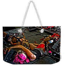 On Stage Literally Weekender Tote Bag by Mike Martin
