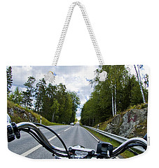 On The Bike Weekender Tote Bag