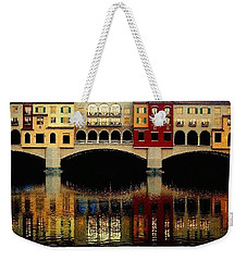 On The Lake Weekender Tote Bag by Tammy Espino
