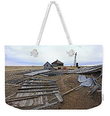 Weekender Tote Bag featuring the photograph Once There Was A Farm by James Steele