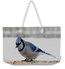 Blue Jay Weekender Tote Bag by Maciek Froncisz