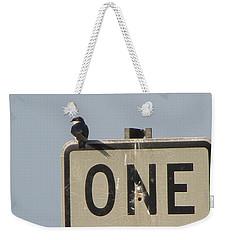 One Way Weekender Tote Bag