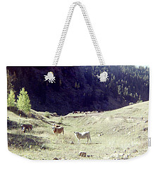 Weekender Tote Bag featuring the photograph Open Range by Bonfire Photography