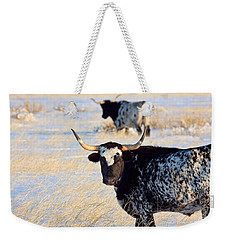 Weekender Tote Bag featuring the photograph Open Range by Jim Garrison