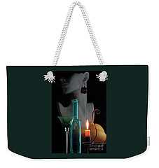 Orange Candle Weekender Tote Bag