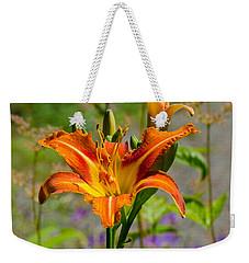 Orange Day Lily Weekender Tote Bag by Tikvah's Hope