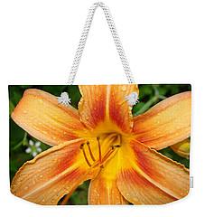 Orange Iris Weekender Tote Bag
