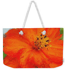 Orange Weekender Tote Bag by Michelle Joseph-Long