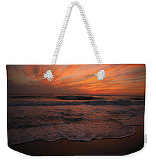 Orange To The End Weekender Tote Bag