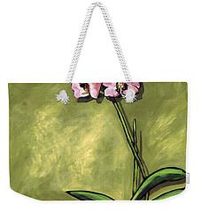 Orchid On Olive Weekender Tote Bag
