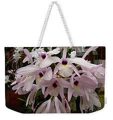 Weekender Tote Bag featuring the photograph Orchids Beauty by Donna Brown